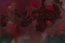 DRAGONS LAST STANCE, Öl/Pigment auf Leinwand, 240cm x 190cm (2011)