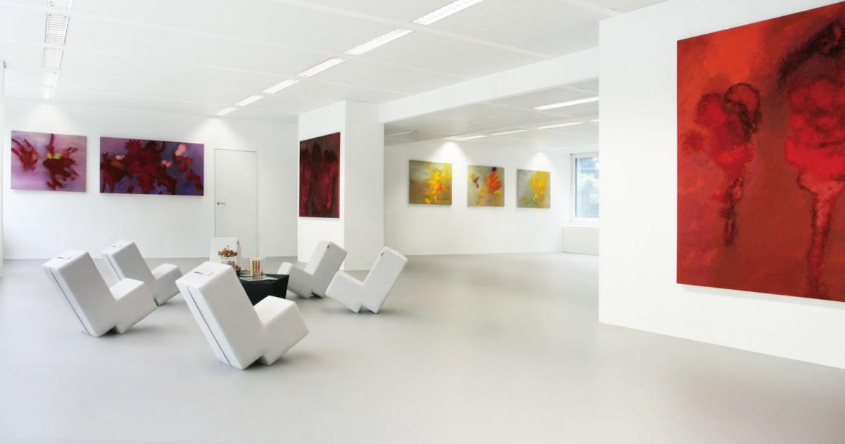 Ansicht der Ausstellung im CreativeCarree in Frankfurt am Main 2013